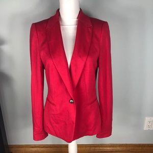 Zara Cherry Red Blazer Jacket L